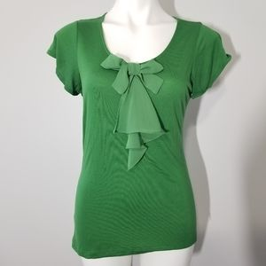 The Limited Green Short Sleeve Tee with Bow